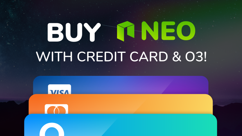 Buy NEO with credit or debit card is now available on O3!